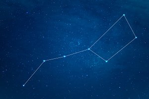 Big Dipper Constellation at starry