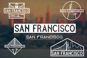 San Francisco vintage labels
