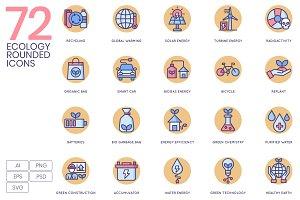 72 Ecology Icons - Rounded