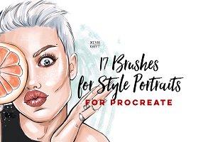 17 Procreate Brushes for Portraits