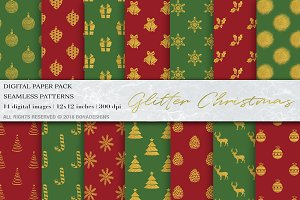 Glitter Christmas Digital Papers