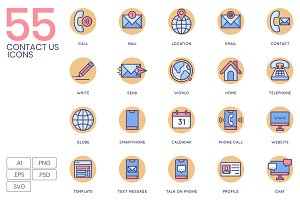 55 Contact Us Icons - Rounded