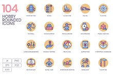 104 Hobby Icons - Rounded by  in Icons