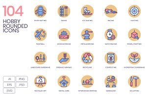 104 Hobby Icons - Rounded
