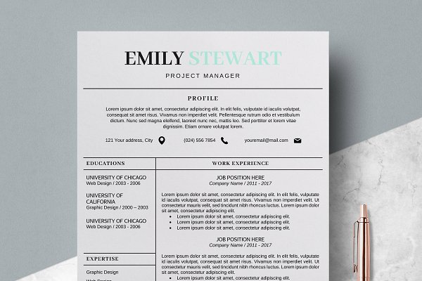Resume Template   CV + Cover Letter ~ Cover Letter Templates
