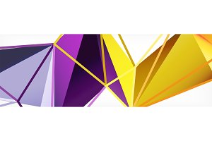 Vector colorful geometric triangle
