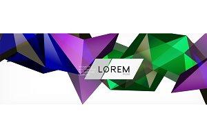 Triangle 3d polygonal art style