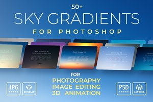 Sky Gradients Overlays for Photoshop