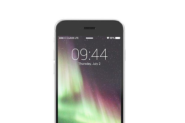 3D Electronics: CGAxis - Black smartphone