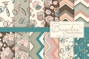 Bicycles 07 - Seamless Patterns