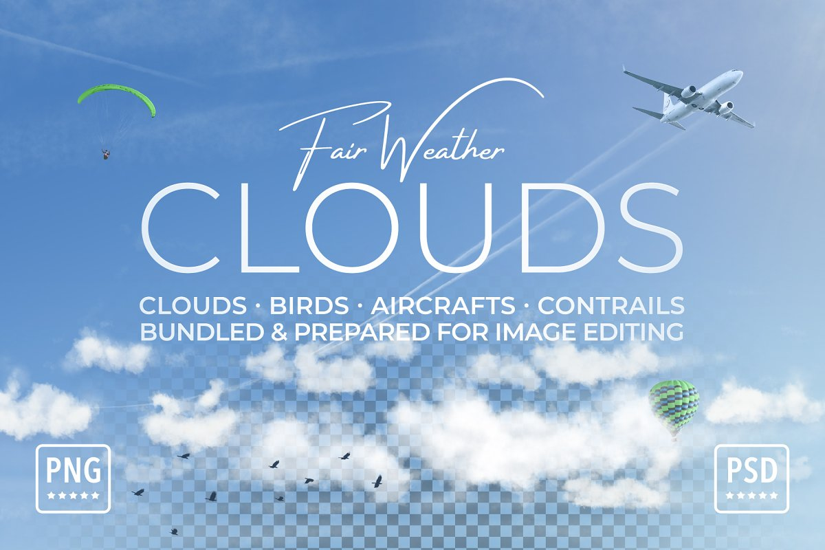 Clouds on Transparent Background ~ Graphic Objects ~ Creative Market