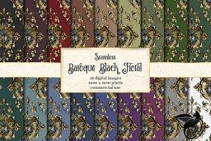 Baroque Black Floral Patterns