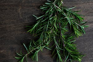 Food concept with rosemary