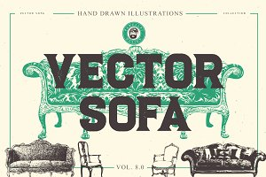 VECTOR SOFA HAND DRAWN BUNDLE 8.0