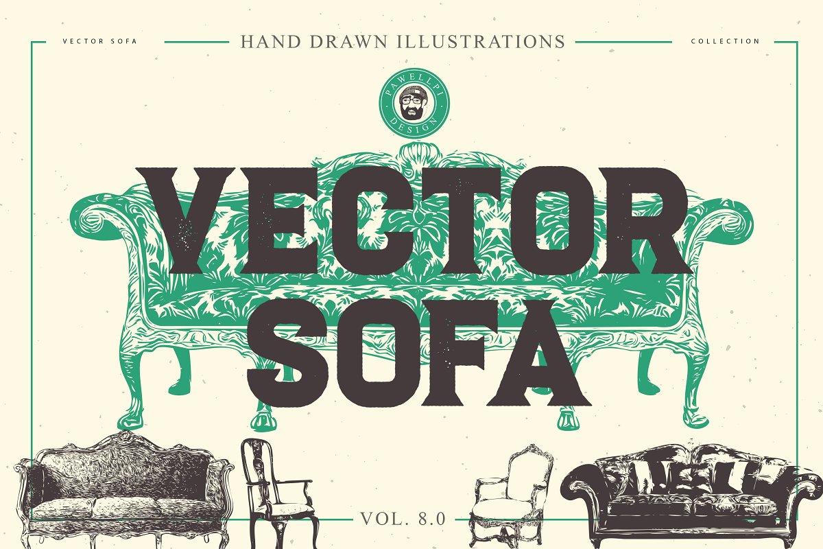 Vector Sofa Hand Drawn Bundle 8 0 Illustrations Creative Market