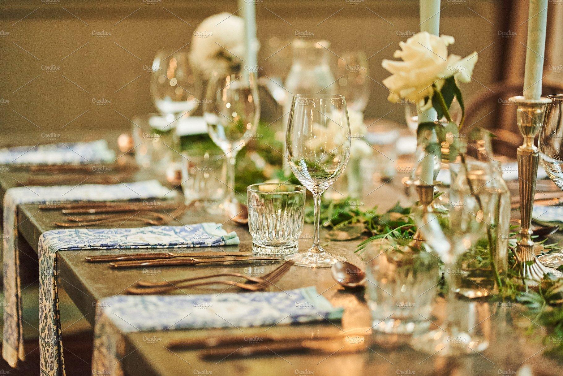 Vintage Wedding Table Setting | High-Quality Holiday Stock Photos ~  Creative Market