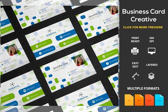 Business Card Creative Business Card Templates Creative Market