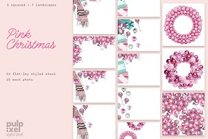 Pink Christmas Styled Stock Bundle