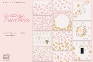 Christmas Balls Styled Stock Bundle