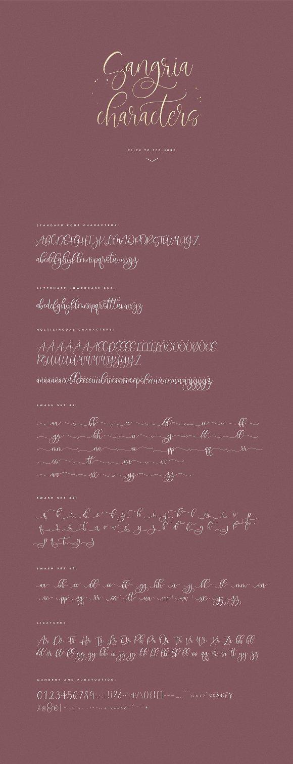 Sangria Script Font in Cursive Fonts - product preview 8