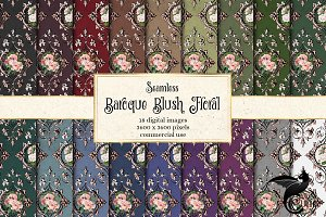 Baroque Blush Floral Digital Paper