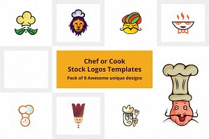 Chef Stock Logo Templates Pack of 8