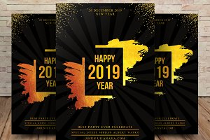 Happy New Year 2019 Flyer Template