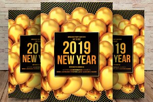 2019 New Year's Flyer Template
