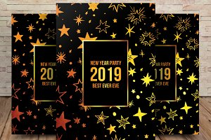 2019 Happy New Year Flyer Template