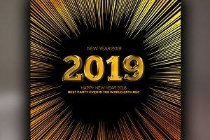 2019 Happy New Year Banner