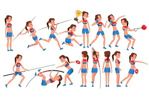 Athletics Girl Player Female Vector