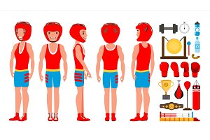 Professional Boxer Boxing Vector