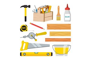 Carpentry And Woodwork Tools Set