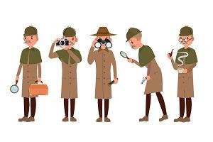 Detective Character Vector. Shamus