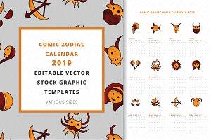 Comic Zodiac Calendar 2019