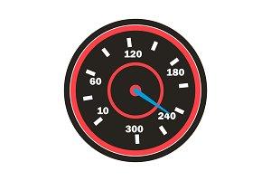 Speedometer Icon Vector. Sport Car