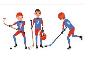 Classic Ice Hockey Player Vector