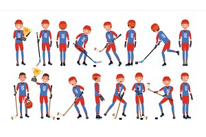 Modern Ice Hockey Player Vector