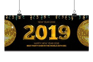 New Year 2019 FB Timeline Cover
