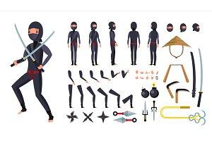 Ninja Vector. Animated Character