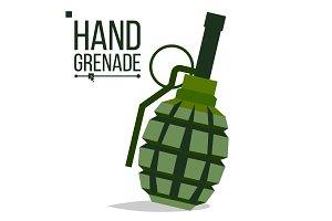 Grenade Vector. Big Bang. Green