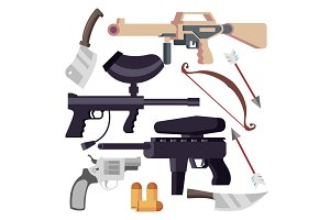 Weapon Set Vector. Weapons Icons