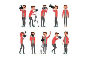 Photographer Vector. Photo Studio