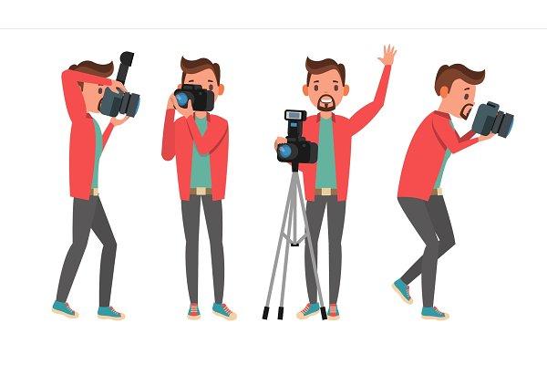 photographer vector modern camera pre designed vector graphics creative market photographer vector modern camera