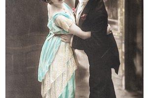 Sentimental romantic couple dancing