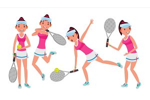 Professional Tennis Player Vector