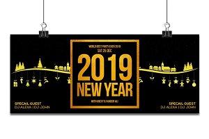 Happy New Year 2019 FB Timeline