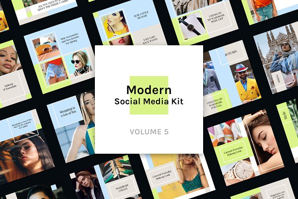 Modern Social Media Kit (Vol. 5)