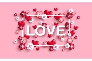 Love typography concept