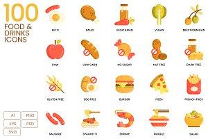 100 Food Icons | Caramel